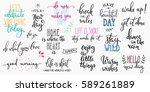 lettering photography overlay... | Shutterstock .eps vector #589261889