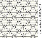 vector seamless pattern. modern ... | Shutterstock .eps vector #589266014