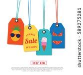 tag season summer hot sale  new ... | Shutterstock .eps vector #589275281