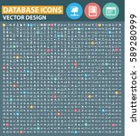 database icon set clean vector | Shutterstock .eps vector #589280999
