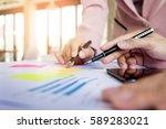 team work process. young...   Shutterstock . vector #589283021