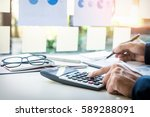 business finance man... | Shutterstock . vector #589288091