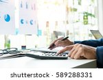 business finance man... | Shutterstock . vector #589288331