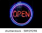 blue  purple and red neon sign... | Shutterstock . vector #58929298