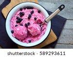 healthy homemade raw vegan... | Shutterstock . vector #589293611