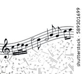 music  background  melody ... | Shutterstock . vector #589301699