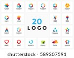 logo circle creative sign... | Shutterstock .eps vector #589307591
