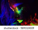 beautiful extraterrestrial... | Shutterstock . vector #589310039