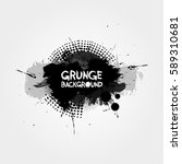 grunge background with splashes ... | Shutterstock .eps vector #589310681