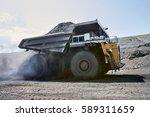 transport caking coal 120 tons... | Shutterstock . vector #589311659