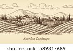 Vineyard Seamless Landscape....