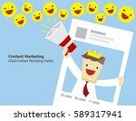 illustration vector of teen man ... | Shutterstock .eps vector #589317941