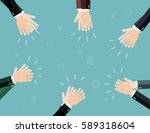 applause  clapping hands.... | Shutterstock .eps vector #589318604