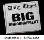 big announcement news story... | Shutterstock . vector #589321355