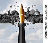 power of the pen concept as a... | Shutterstock . vector #589321805