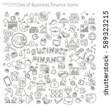 hand drawn business and finance ... | Shutterstock .eps vector #589323215