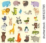 set of different animals. birds ... | Shutterstock .eps vector #589323785