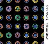 seamless vector geometrical... | Shutterstock .eps vector #589327271