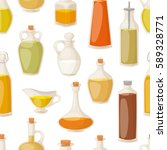 different food oil in bottles... | Shutterstock .eps vector #589328771
