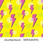 90's style seamless pattern | Shutterstock . vector #589334591