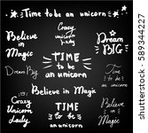 concept hand lettering posters. ... | Shutterstock .eps vector #589344227