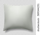 white vector pillow. realistic... | Shutterstock .eps vector #589344251