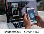 bangkok. thailand. february 28  ... | Shutterstock . vector #589344461