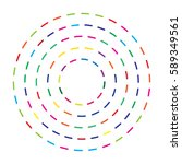 colorful dashed random circles... | Shutterstock .eps vector #589349561