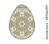 easter egg with a geometric... | Shutterstock .eps vector #589360397
