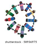 canadian home made dolls for... | Shutterstock . vector #58936975
