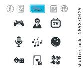 entertainment icons. game ... | Shutterstock . vector #589370429