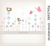 cute minimalistic vector cover | Shutterstock .eps vector #58937956