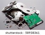 crashed and broken apart... | Shutterstock . vector #58938361