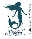 Mermaid  Hand Drawn Vector...