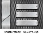 metal perforated background... | Shutterstock .eps vector #589396655