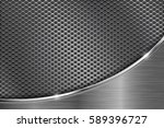 metal perforated background...   Shutterstock .eps vector #589396727