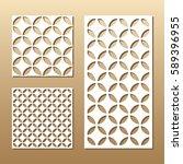 die cut card. laser cut vector... | Shutterstock .eps vector #589396955