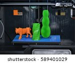 the object printed 3d printer... | Shutterstock . vector #589401029