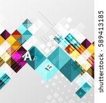 square elements with... | Shutterstock .eps vector #589413185