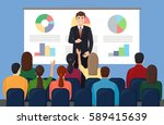business workshop  training ... | Shutterstock .eps vector #589415639