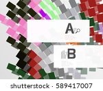 geometrical vector abstract... | Shutterstock .eps vector #589417007