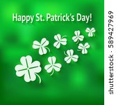 st. patricks day card with... | Shutterstock . vector #589427969