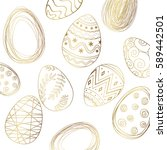 ester golden eggs | Shutterstock .eps vector #589442501