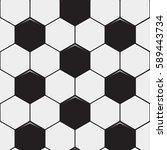 black and white soccer ball... | Shutterstock .eps vector #589443734