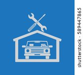car in the garage icon ... | Shutterstock .eps vector #589447865