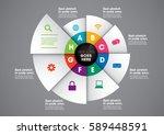 vector of modern circular info... | Shutterstock .eps vector #589448591