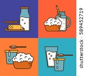 assortment of different dairy... | Shutterstock .eps vector #589452719