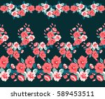 simple border in small scale... | Shutterstock .eps vector #589453511