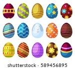 easter eggs spring colorful... | Shutterstock .eps vector #589456895