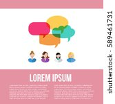 poster of women icons with... | Shutterstock .eps vector #589461731